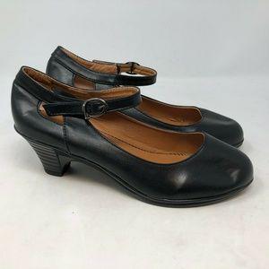 Chuxiongda black mary jane heels pumps sz 41 US 9
